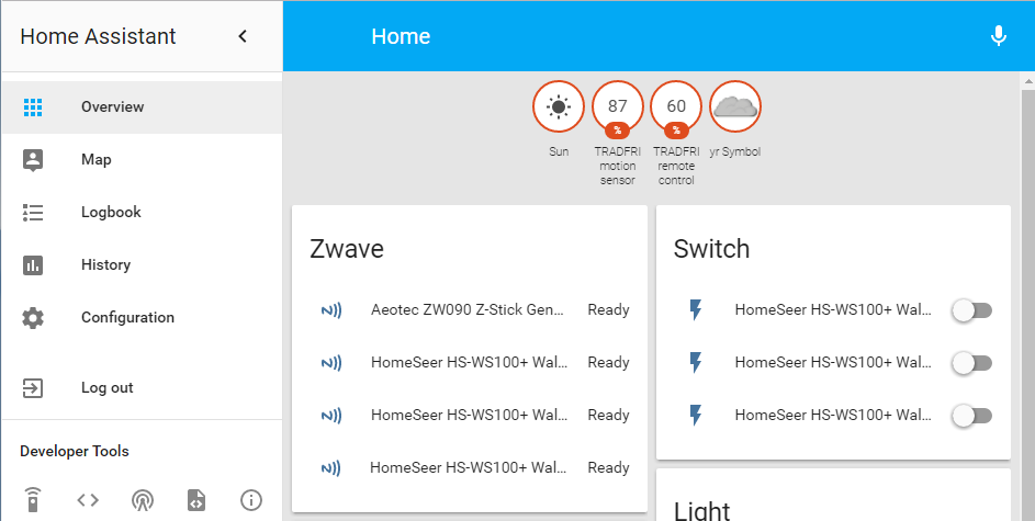 Home Assistant – Z-Wave Setup – Cattux's Blog